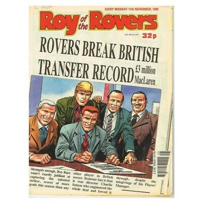 Roy of the Rovers Comic November 11 1989 MBox2797 Rovers break British transfer