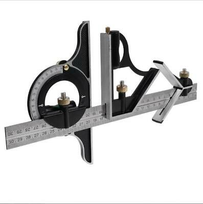 300mm Ruler Multi Combination Square Angle Finder Protractor & Spirit Level Set