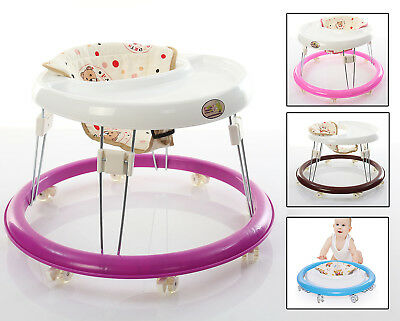 Baby Walker Folding Toddler Safe Walk Learning Assistant Chair Rolling Wheel Toy