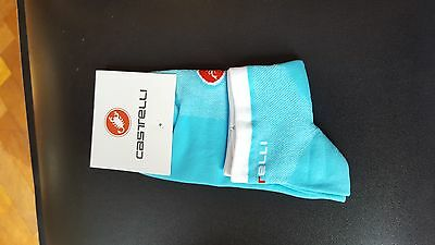 Sky Blue Castelli Rosso Cycling Socks Size 7-13