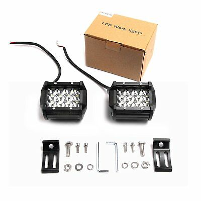 4in 120W OffRoad LED Work Light Bar Spot Fog Driving Lamp Jeep Truck SUV 4WD UTE