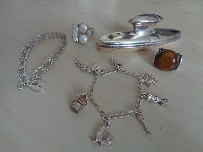 Sterling Silver Lot, Five Items, Not Scrap, 70g