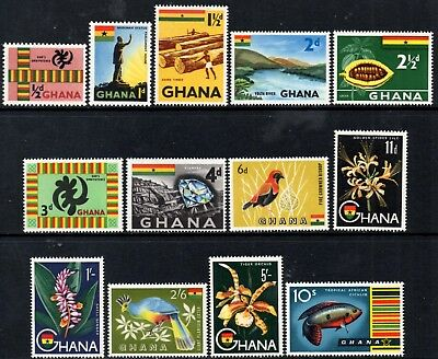 Ghana 1959 Pictorial Definitives - Complete to 10/-  SG213/225 Mint (MNH)