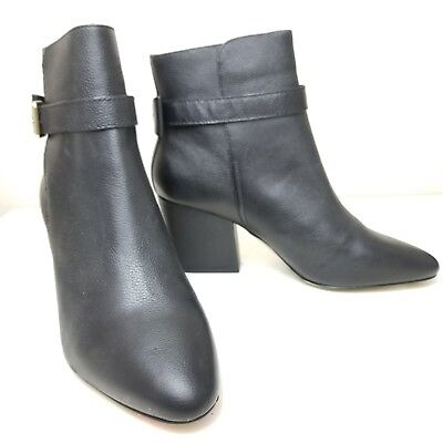 7013f92408d1 Kate Spade New York Brandi Black Leather Bootie Size 10 Buckle Bow Detail
