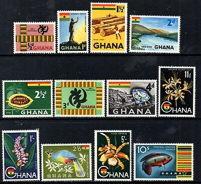 Ghana 1959 Pictorial Definitives SG213/225 Mint MNH (Missing the 6d & £1 Values)