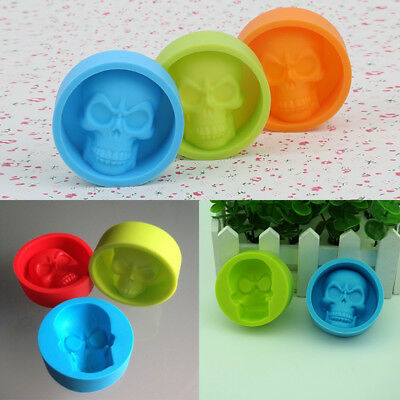 Funny Skull Shaped Muffin Silicone Cake Chocolate Ice Tray Mold Baking