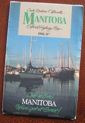 MANITOBA   Official Highway Map  1986/87
