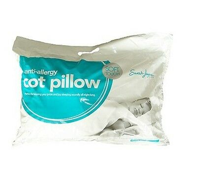 Baby Cot / Cot Bed Pillow Soft Anti-Allergy By Sarah Jayne 12 Months+