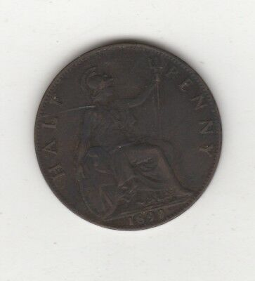 1899 Great Britain 1/2 Penny Foreign Coin