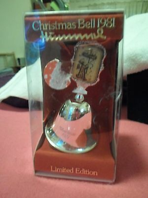 HUMMEL 1981 CHRISTMAS BELL SILVER PLATED ARS LIMITED EDITION 1st Ed. - NIB