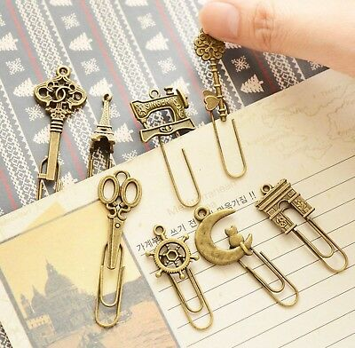 Metal Bookmark Vintage Book Marker Clip Stationery Office Accessories UK SELLER