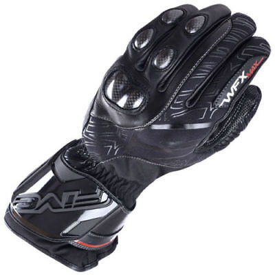 NEW FIVE WFX MAX WATERPROOF LEATHER Black Motorcycle WINTER GLOVES - SALE