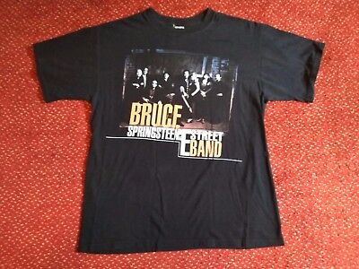 Bruce Springsteen and the E Street Band Tour T Shirt Black Large 100% Cotton