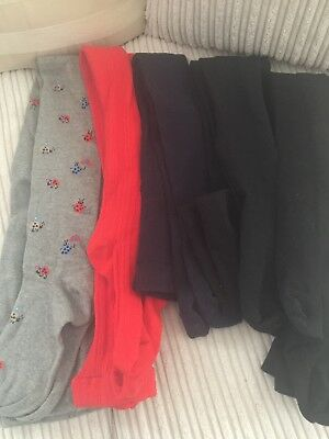 7 pairs of Girls Tights Age 11-12 Next
