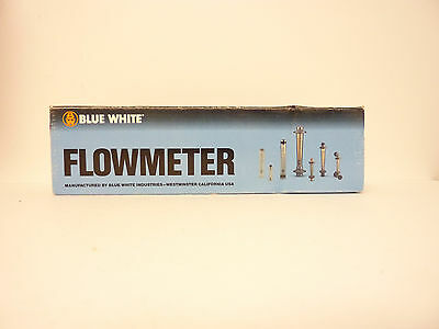 "Blue And White (F-40376LN-6) 0.2 - 2 GPM Flow Meter; 3/8"" FPT"