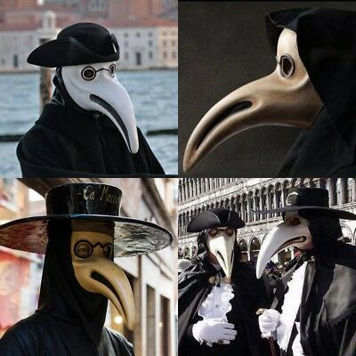 The Plague Doctor Halloween Costume Prom Cosplay Party Curve Nose Bird mask
