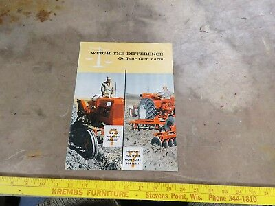 Vintage Allis Chalmers D-14, D-17 Tractor brochure Buyers Guide