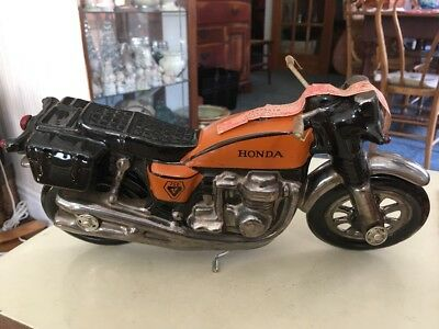 Honda 750 Motorcycle Famous Firsts Decanter Hand Painted In Italy 1975 Very Rare