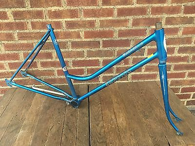 "1977 Schwinn Caliente Ladies Frame Fork Blue 19"" Single Speed 10 Speed Vintage"