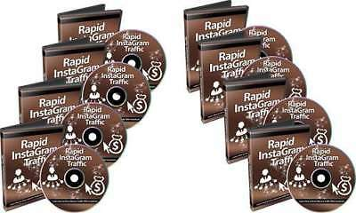 Step By Step How To Drive Massive Traffic With Instagram - 8 Videos on 1 cd