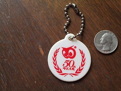 Red Owl Grocery Store Plastic Key Chain 50Th Anniversary Advertising 1922 - 1972