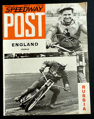 SPEEDWAY POST - England vs Russia July 1966