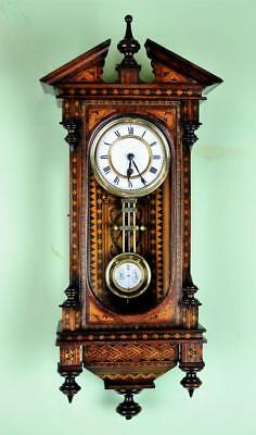 MINIATURE INLAID VIENNA WALL CLOCK - Outstanding item