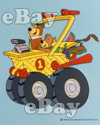 Rare! YOGI BEAR Cartoon Color TV Photo HANNA BARBERA Studios FENDER BENDER 500