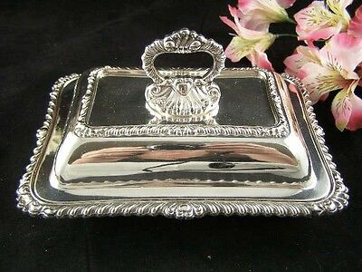 Antique Victorian EPNS Silverplate Covered Double Entree Dish
