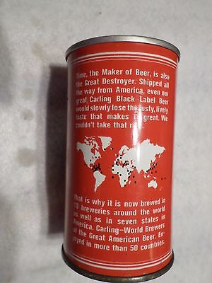Vintage Scarce South Africa with map Carling Black label Straight Steel Beer Can