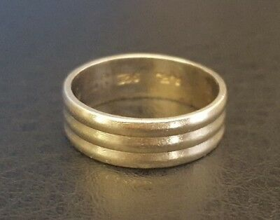 9ct solid white gold wedding band ring 4.04g size O