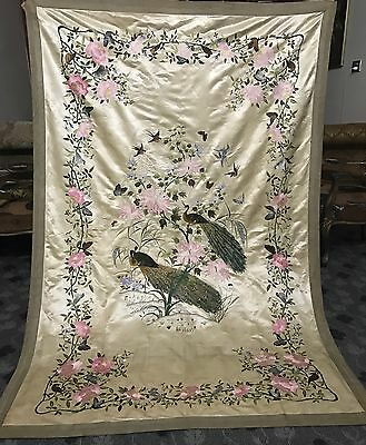"""An Exceptional Chinese Qing Dynasty Embroidered Panel Wall Hanging  55"""" By 81"""""""