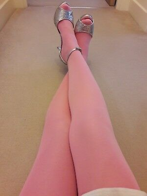 Soft Pink Opaque Tights size L