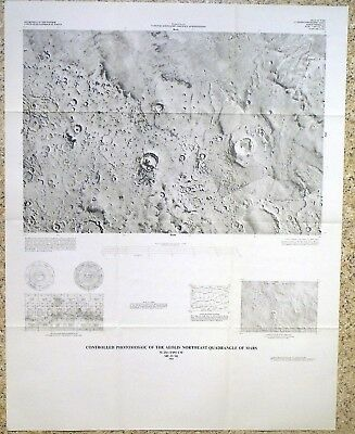 USGS MARS PHOTO MAP of AEOLIS NE QUAD, Vintage 1982 Scarce I-1497 NIce!