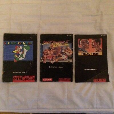 Snes Manuals Only Lot Final Fight etc..