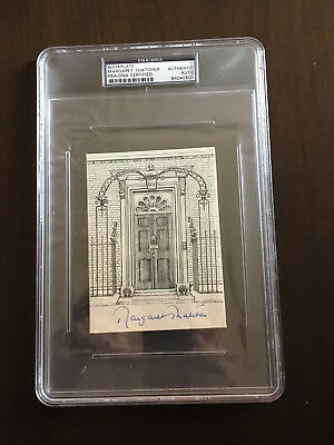 Margaret Thatcher signed #10 Downing PSA Authenticated