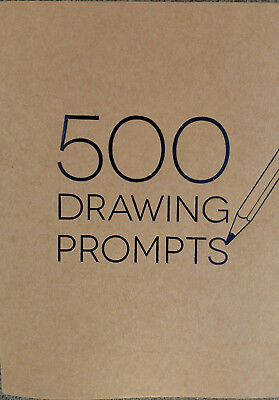500 Drawing Prompts - Piccadilly - Brand NEW - Creative Art Sketchbook