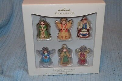 2007 Hallmark Keepsake Miniature Ornaments Joy to the World Angels Set of 6 NEW