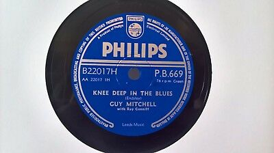 """10"""" 78Rpm - Guy Mitchell - Knee Deep In The Blues (Philips P.b.669) Classic! E"""