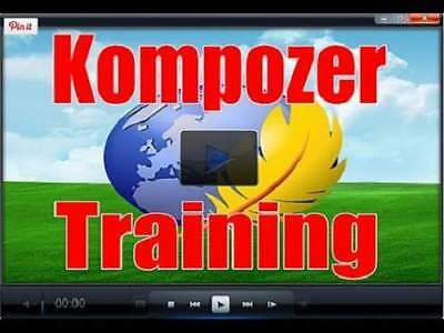 Kompozer Training - 9 Videos on cd with Resell Rights Build Website no HTML