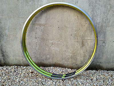 "NOS NEW pair AMBROSIO QUORUM LIME clincher TEAM EDITION rim 32 holes! 26"" MTB"