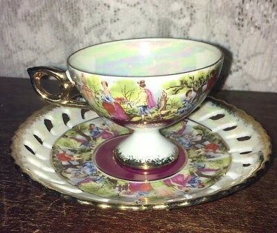 Vintage Enesco Imports Japan Tea Cup And Saucer Set