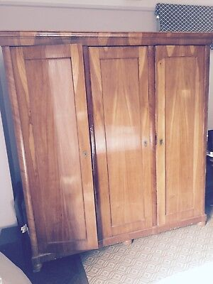 Antique French 3 Door Armoire Walnut. Originally purchased 1980's for over $3000