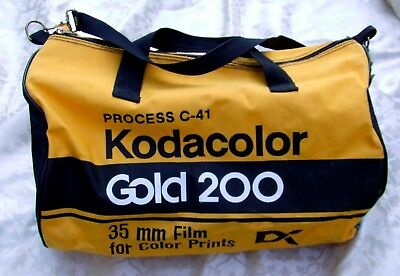 Kodak Vintage 1980s Canvas Gold 200 DX Advertising Tote Bag/Duffle