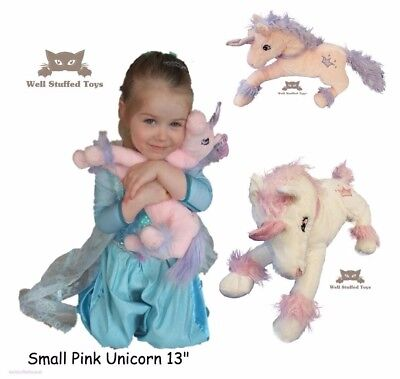 Girlie Paws Kids White  Unicorn Plush Soft Toy Girls Stuffed Figure Doll 13 Inch