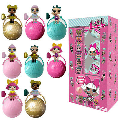 8X LOL Lil Outrageous 7 Layer Surprise Ball Series1 Doll Blind Mystery Ball Gift