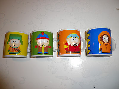 Lot de 4 tasses à café South Park comme neuves