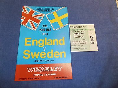 England  vs Sweden international football programmes