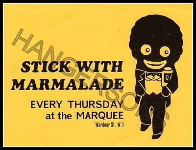 Original vintage 1960s 'Stick with Marmalade' Marquee Wardour St. Promo/Mini fly