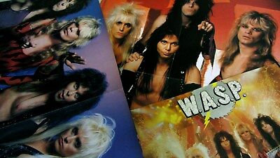 WASP poster A-2(Blackie Lawless+Metallica) MINT+ A3>A4 (EX)